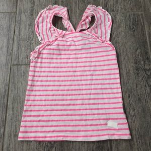 7 For All Mankind Pink and White Stripe Tank 5